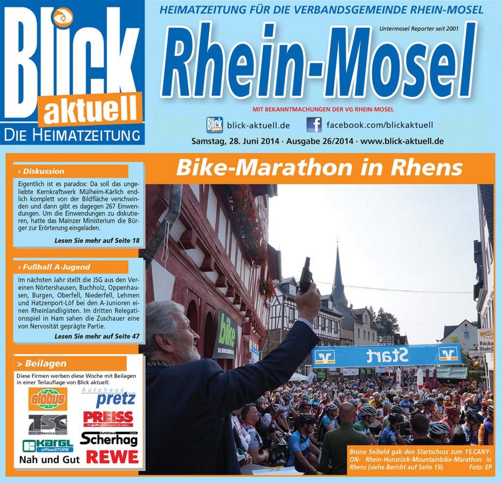 Blick Aktuell Rhein-Mosel, vom: Samstag, 28. Juni 2014