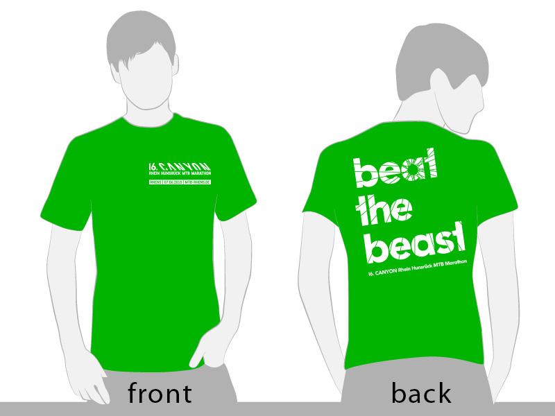 Beat the Beast 2016. Offizielles Finisher Shirt.